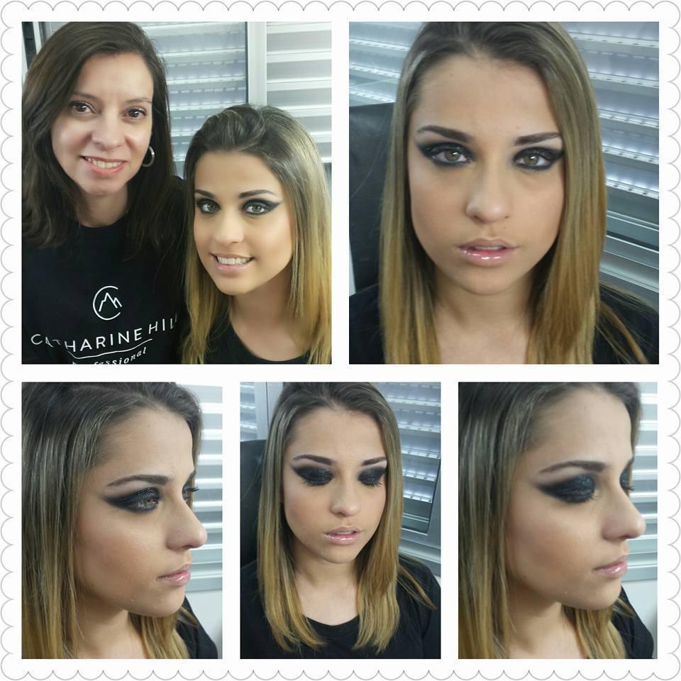 Foto tirada durante curso Especialização em Olhos em Catharine Hill em nov/2015 #pretoesfumado #Casamento #Formatura maquiagem maquiador(a)