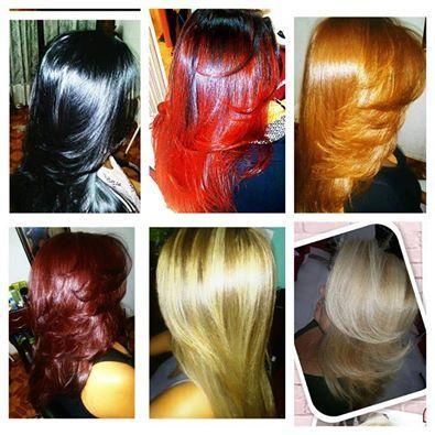 transformações de colorimetria, tratamento e corte  cabelo auxiliar cabeleireiro(a) cabeleireiro(a)