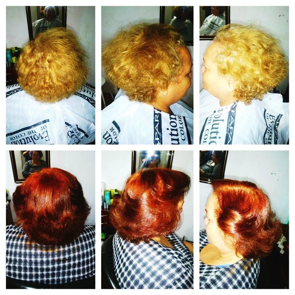 cor, corte e escova modelada cabelo auxiliar cabeleireiro(a) cabeleireiro(a)