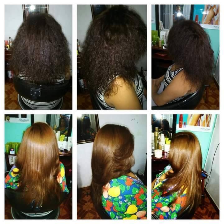 progressiva + corte em v degradado cabelo auxiliar cabeleireiro(a) cabeleireiro(a)