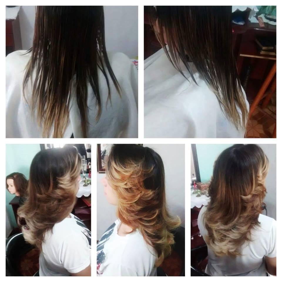 corte+escova modelada cabelo auxiliar cabeleireiro(a) cabeleireiro(a)