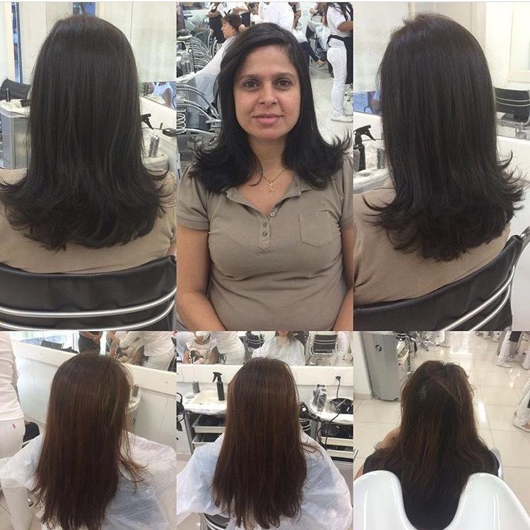 A querida Alda ficou lindaaa 🙀🙀🙀🙀🙀🙀! Desci  2 tons igualando com a raiz e adivinha o que usei??? Coloração Inoa da Loreal MARAVILHOSA a base de óleo + diversos nutrientes, após fiz um tratamento com o Vitamine Color, na qual intensifica a cor e ao mesmo tempo da brilho e para finalizar cortei em camadas no ângulo de 130graus com uma franja Twist 👌🏻👌🏻👏🏻👏🏻, ela amou ❤️❤️😍😍❤️❤️😍😍 #hairdress #hairstyle #cabeloslindos #diva #vida #coloracaoinoa #aquinosalao #Inoa #loreal #morenasdivando #vitaminocolor #linda cabelo cabeleireiro(a) auxiliar cabeleireiro(a)