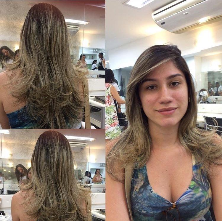 Corte em camadas, a @leticiafacundo_ amou 😍😍😍👸🏼👸🏼💇🏼💆🏼. #dicasdabelinha #hair #hairstyle #hairdresser #blondehair #camadasaumentadas #haircut #hairfashion #divablond #girlblondhair #beutiful #beutygirl #elasgostam #mulherquesecuida #preparada #agitadeblond cabelo cabeleireiro(a) auxiliar cabeleireiro(a)