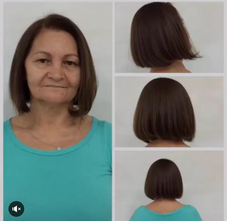Chanel de Bico + coloração para cobrir os brancos com uma fundamental para a correção perfeita e exata 💇🏻💇🏻💆🏻❤️❤️❤️❤️! #dicasdabelinha #bybelinha #diva #brownhair #colors #chaneldebico #cortetendencia #mulherespoderosas #linda #hairstyle #hairstyle #hair #agitabrownhair #mulherquesecuida #beutiful #beutygirl #acaradariqueza #aquinosalao #lorealPF cabelo cabeleireiro(a) auxiliar cabeleireiro(a)