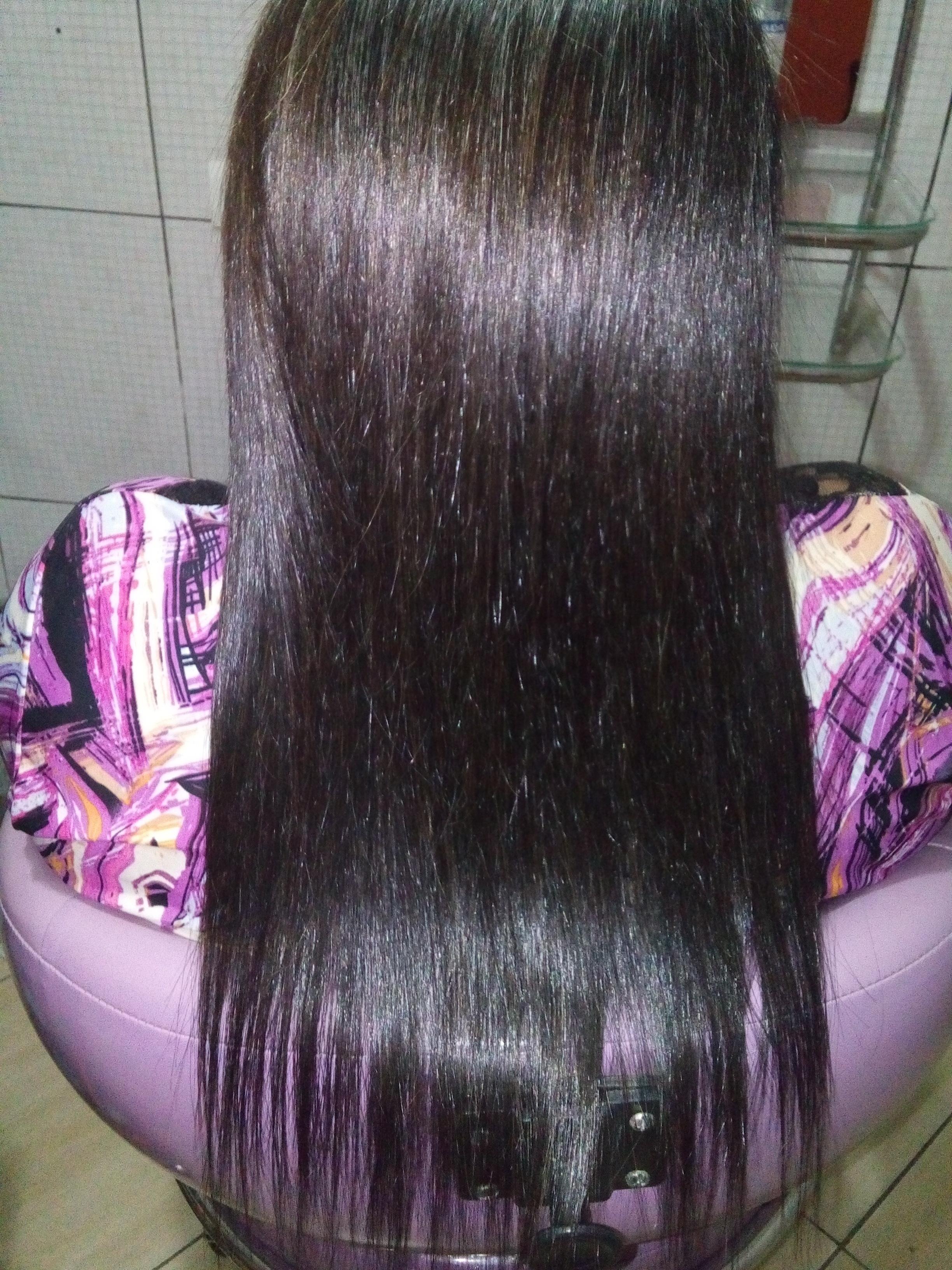 hidrataçao com escova  cabelo recepcionista