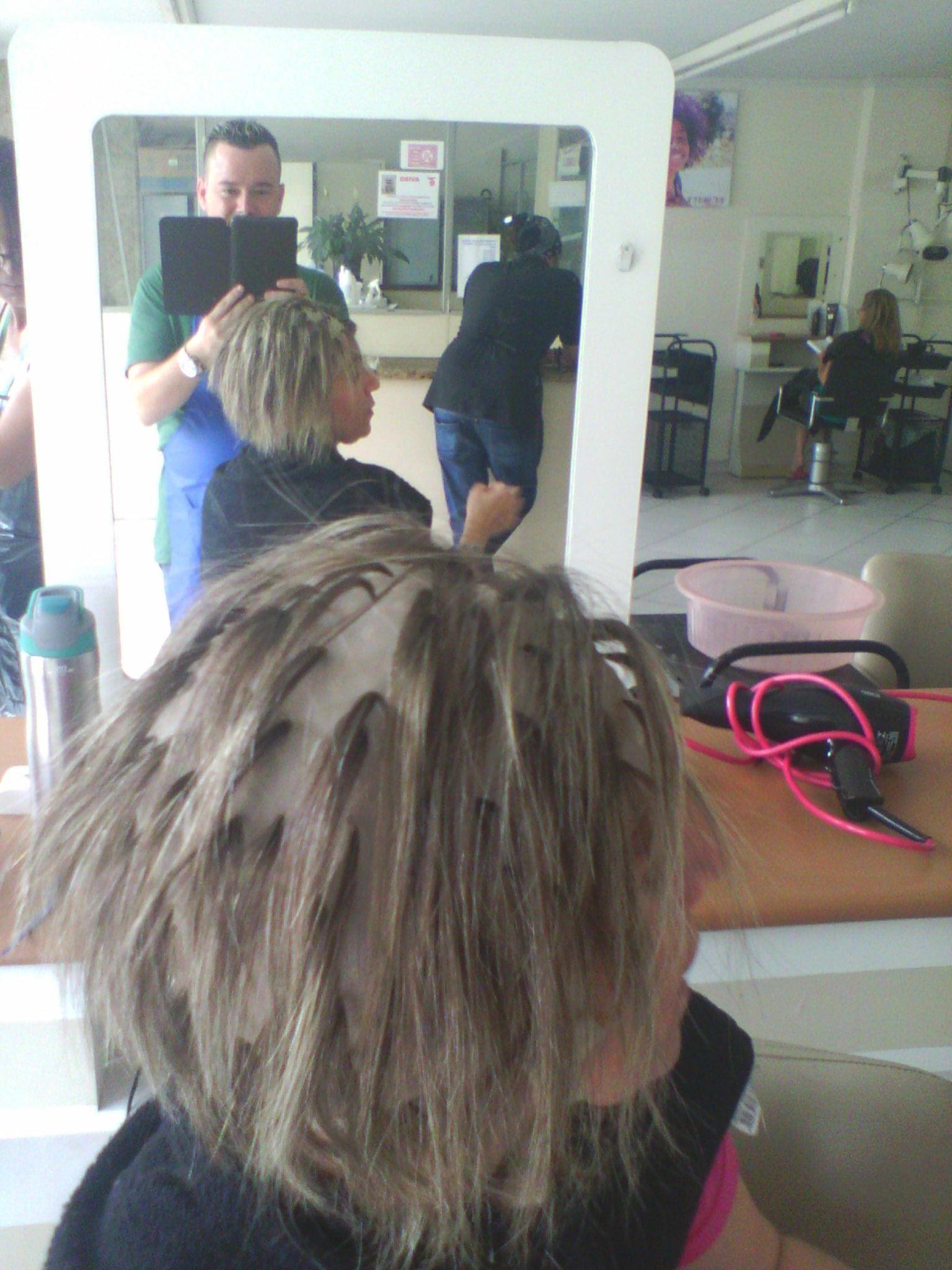Continuação fotos em vários ângulos do processo cabelo cabeleireiro(a) barbeiro(a)