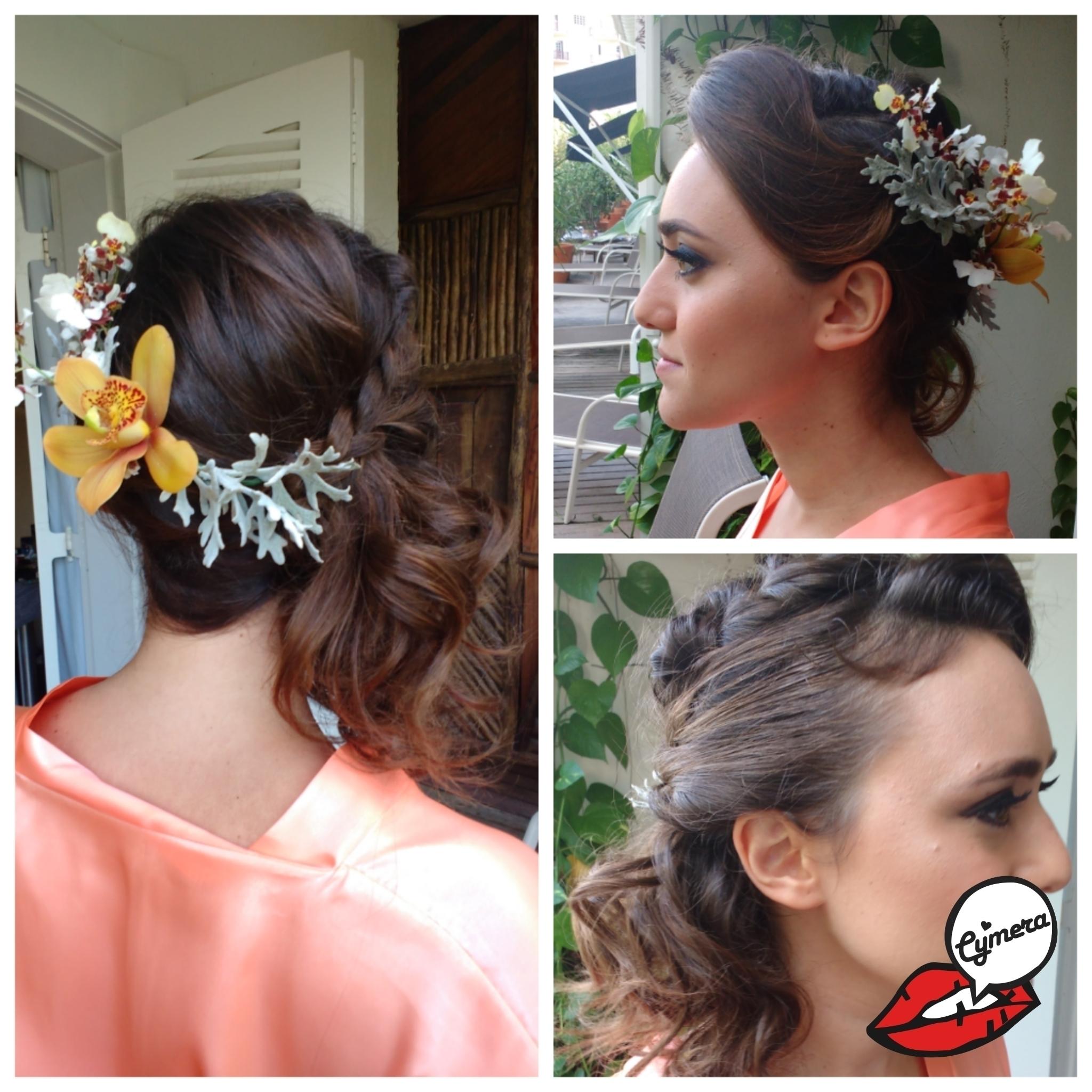 Penteado - Madrinha de Casamento na Praia cabelo maquiador(a) designer de sobrancelhas