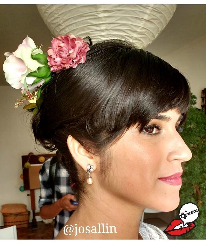 Maquiagem e Cabelo - Noiva em Casamento Tropical não formal maquiagem maquiador(a) designer de sobrancelhas