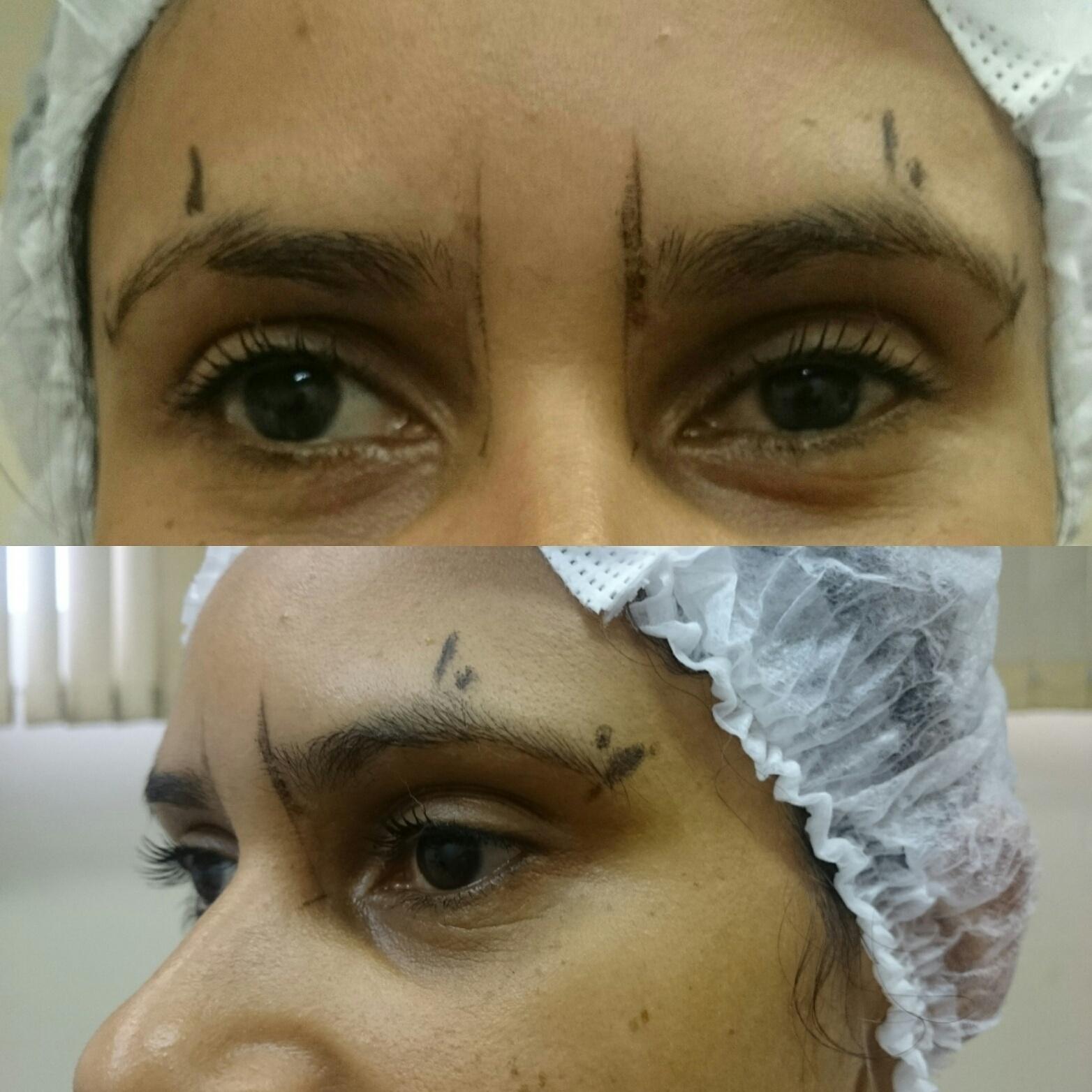 Processo de Designer de Sobrancelha ( Primeira Etapa!!) estética estudante (designer sobrancelha) estudante (depiladora)