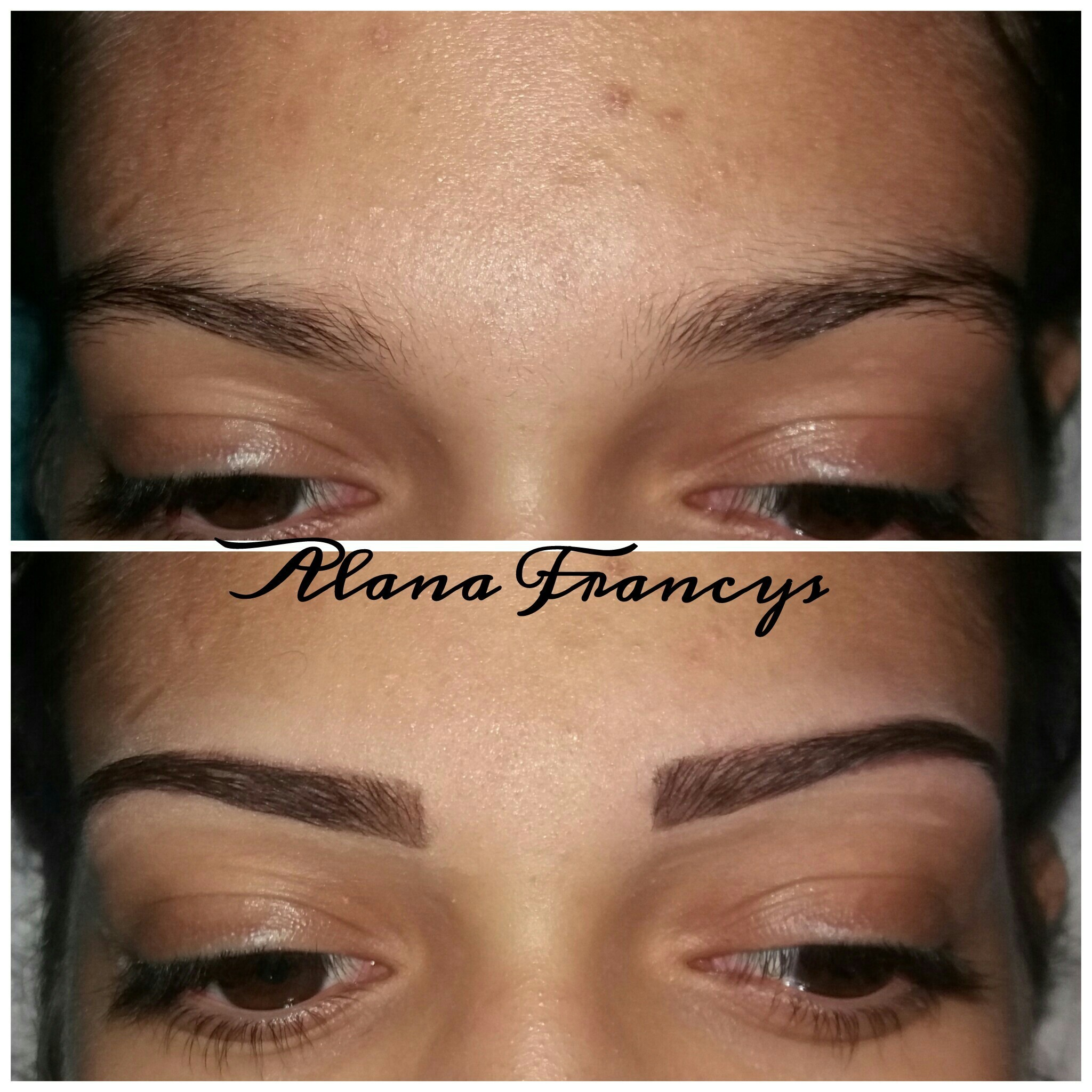 Design de sobrancelha com uma camuflagem   estética designer de sobrancelhas depilador(a) maquiador(a)