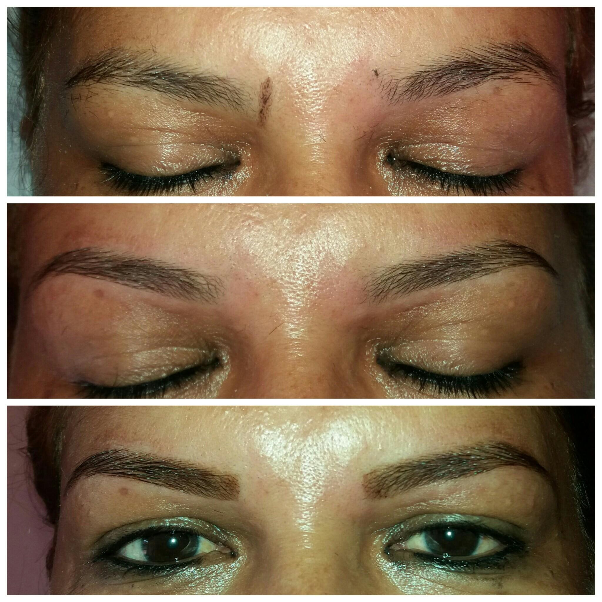 Passo a passo do design finalizado com a henna estética designer de sobrancelhas depilador(a) maquiador(a)