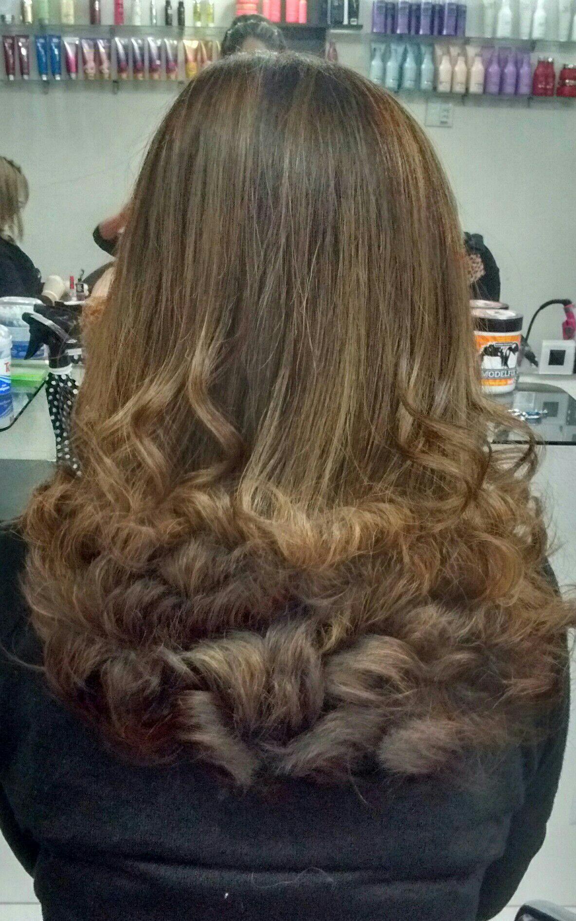 Escova Modelada ! 😍 cabelo auxiliar cabeleireiro(a)