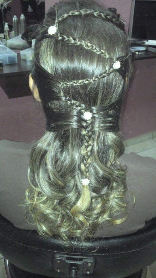 Esse é  penteado com trança  cabelo cabeleireiro(a)