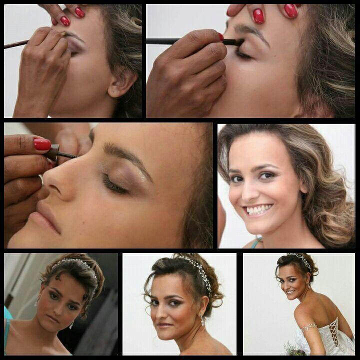 Penteado  maquiagem  noivas Veravisagista, e  cabelereira cabelo stylist / visagista cabeleireiro(a)