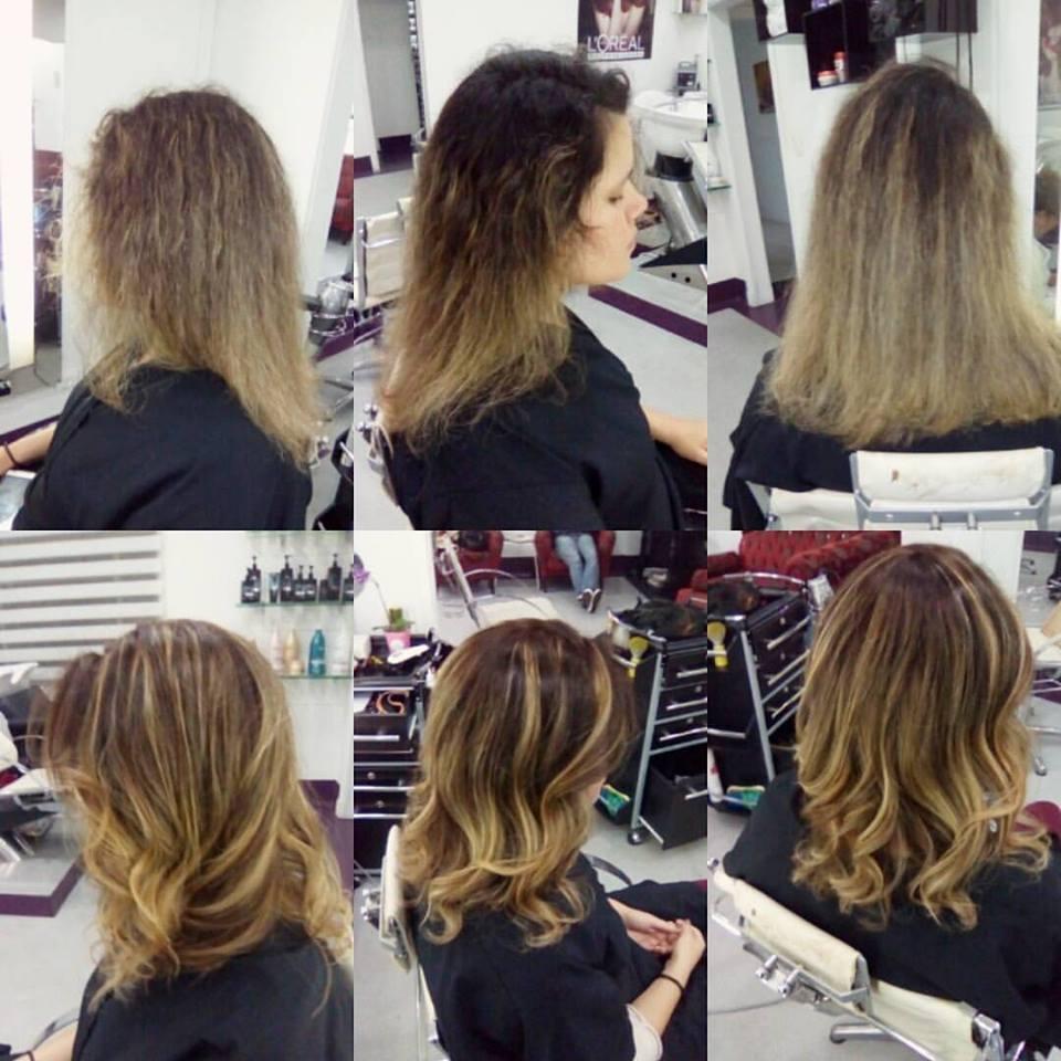 Antes e Depois #antesedepois #aclimação #sp cabelo
