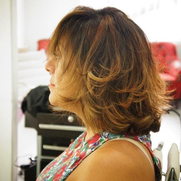 Corte e Ombre natural, incrível para peles morenas #sp #tonsnaturais  cabelo