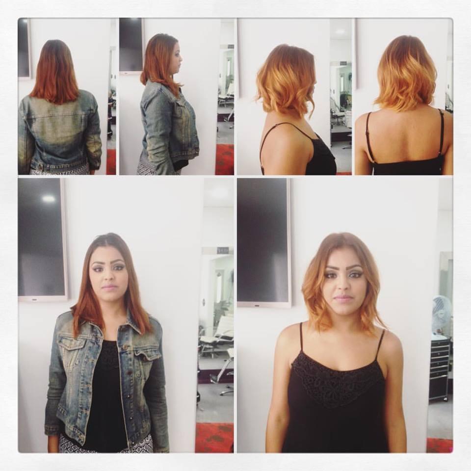 antes e depois da Bruna #hair #hairfashion #hairlook #ombréhair  cabelo