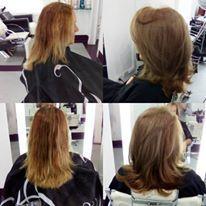 Antes e o depois da Leda ficou super cool, um tom de loiro mais fechado para este tempo friozinho de São Paulo #hair #loiroscool #hairlook #hair cabelo