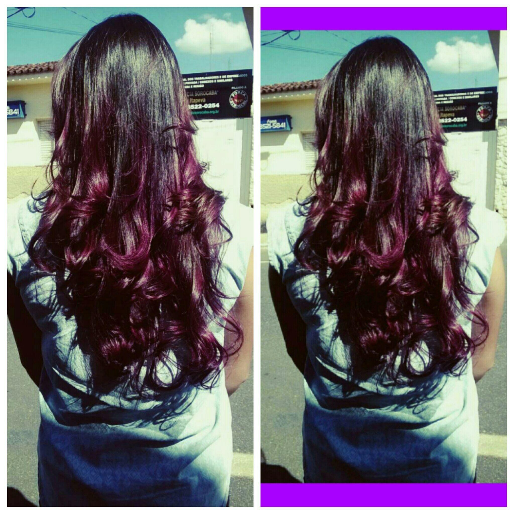 Ombre violeta cabelo