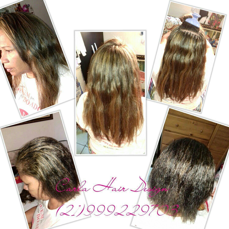 Alongamento de cabelo  Técnica Nó americano meia cabeça Material fio de seda cabelo escovista cabeleireiro(a) barbeiro(a)