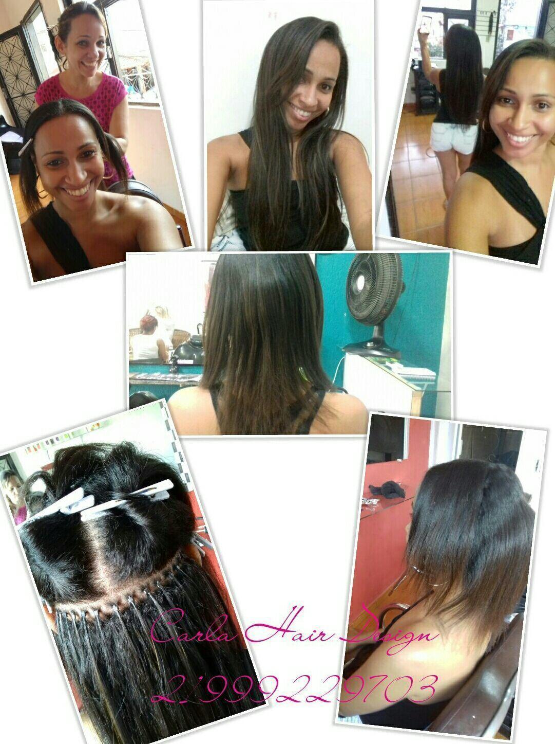 Alongamento de cabelo meia cabeça  Técnica micro link cabelo escovista cabeleireiro(a) barbeiro(a)