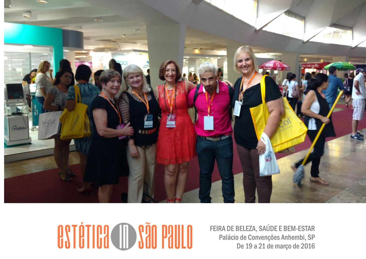 Encontro com amigos e profissionais na Estética In São Paulo estética docente / professor(a)