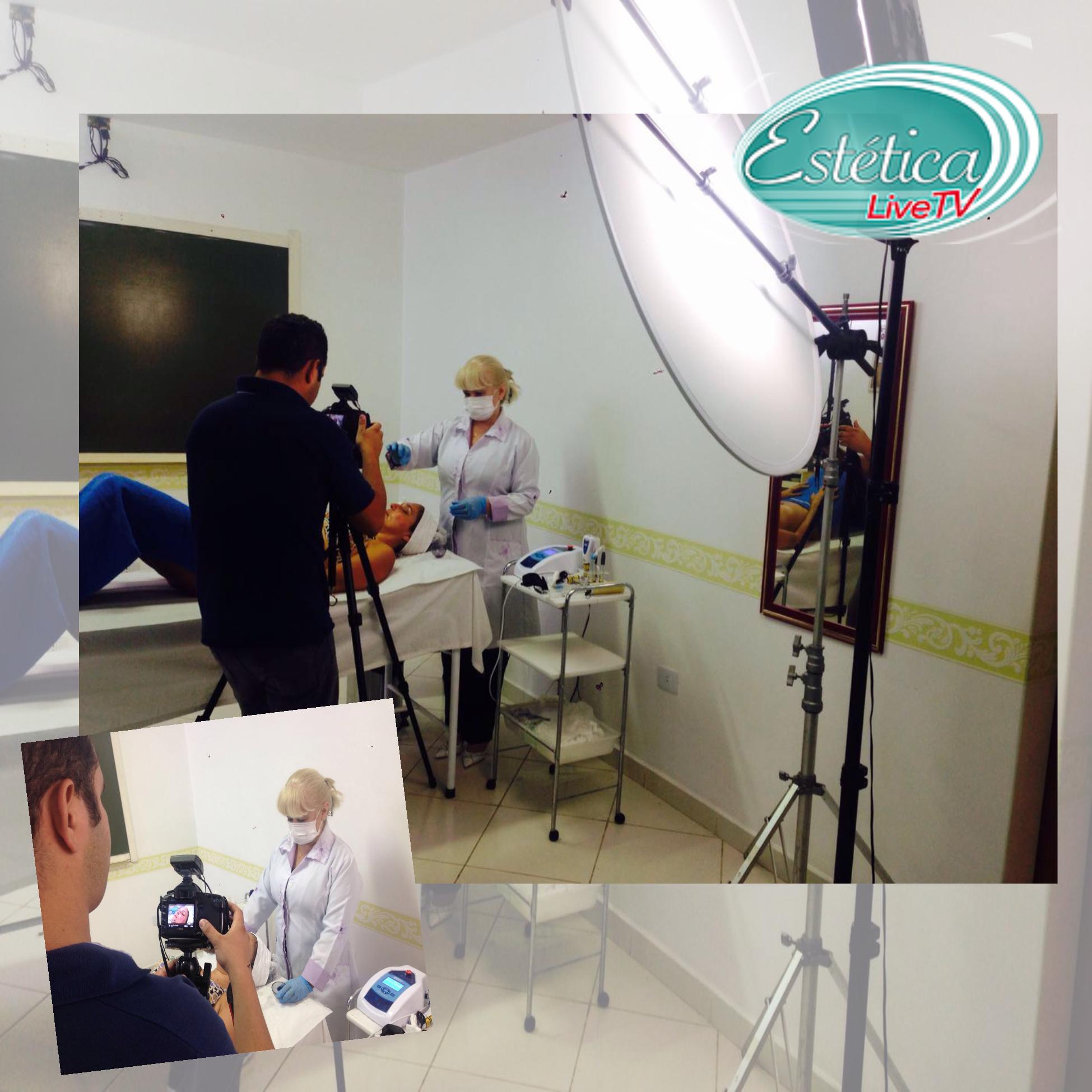 Gravação da matéria dobre Fototerapi ana estética Uso do laser de baixa intensidade e luz não colimada contribuindo nos resultados estéticos.  estética docente / professor(a)