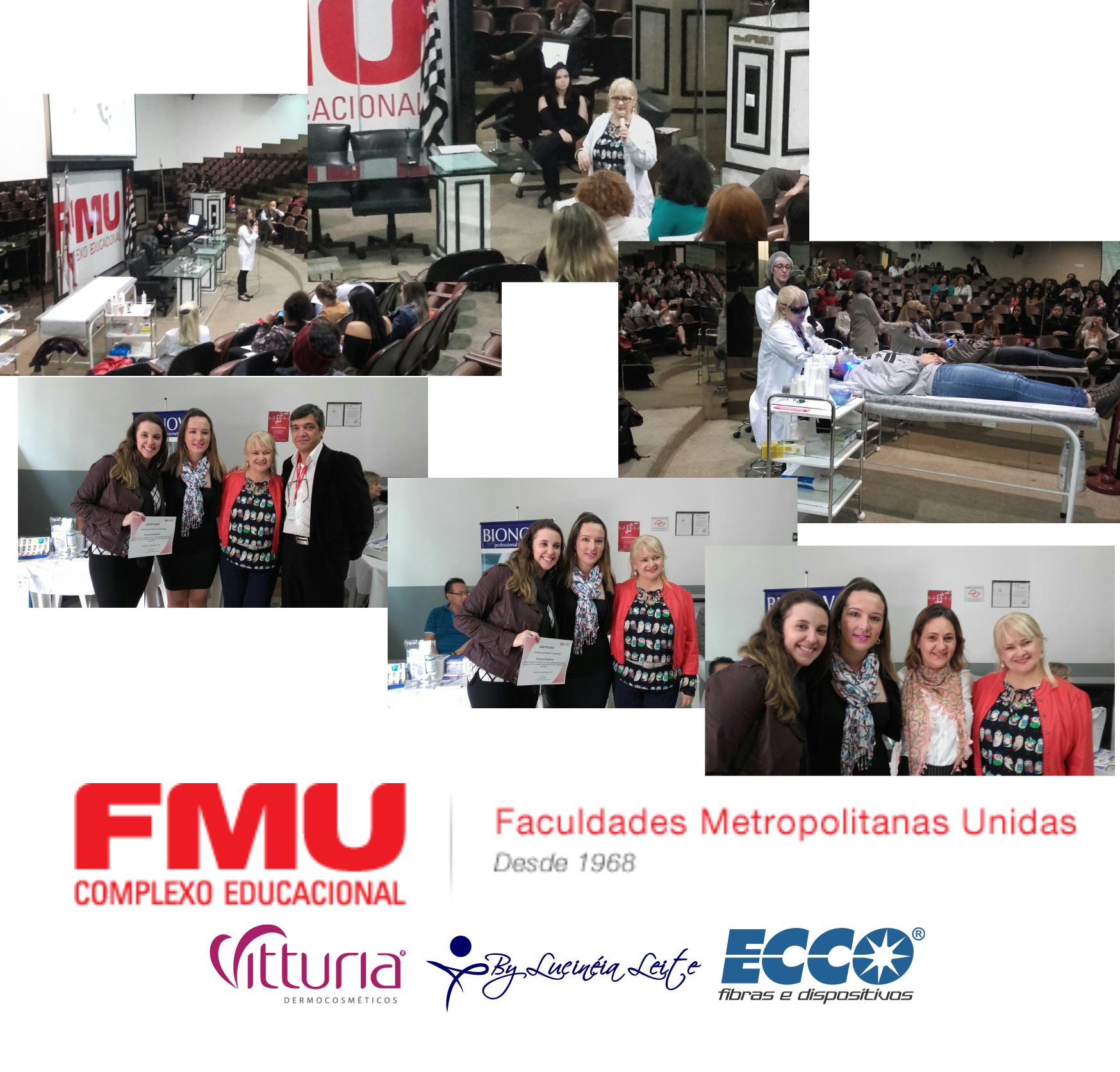 Palestra e apresentação prática na Faculdade FMU SP estética docente / professor(a)