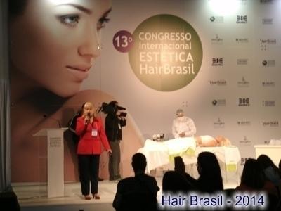 Palestra na Hair Brasil estética docente / professor(a)