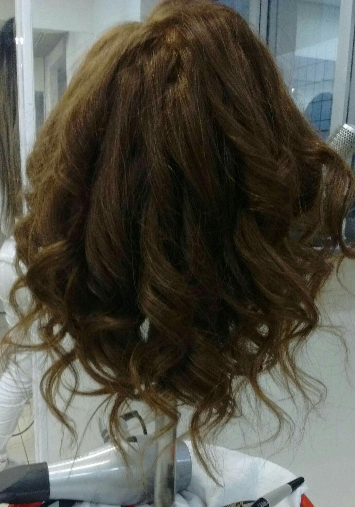 Escova Cacheada! 😍 cabelo auxiliar cabeleireiro(a)