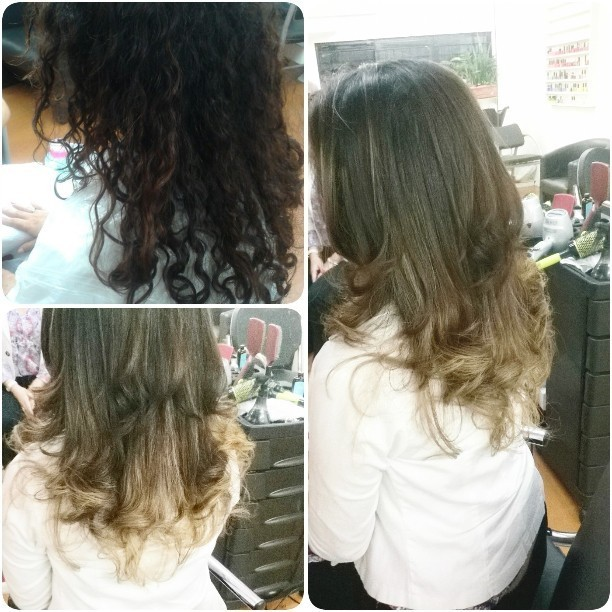 Ombre Hair tom sobre tom e tratamento dos fios. #sos #ombrehair #brownhair #hairstylist #colorimetria #escovamodelada cabelo cabeleireiro(a) maquiador(a) barbeiro(a)