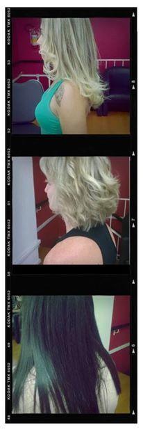 Trio! #hair #ombrehair #liso #blondhair #blonds #hair #longbob #progressiva #platinados #escovamodelada #curtinhostambem #corte curto  cabelo cabeleireiro(a) maquiador(a) barbeiro(a)