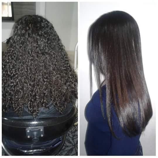 Progressiva sem formol ! Cabelo já lavado 100% liso  cabelo cabeleireiro(a)