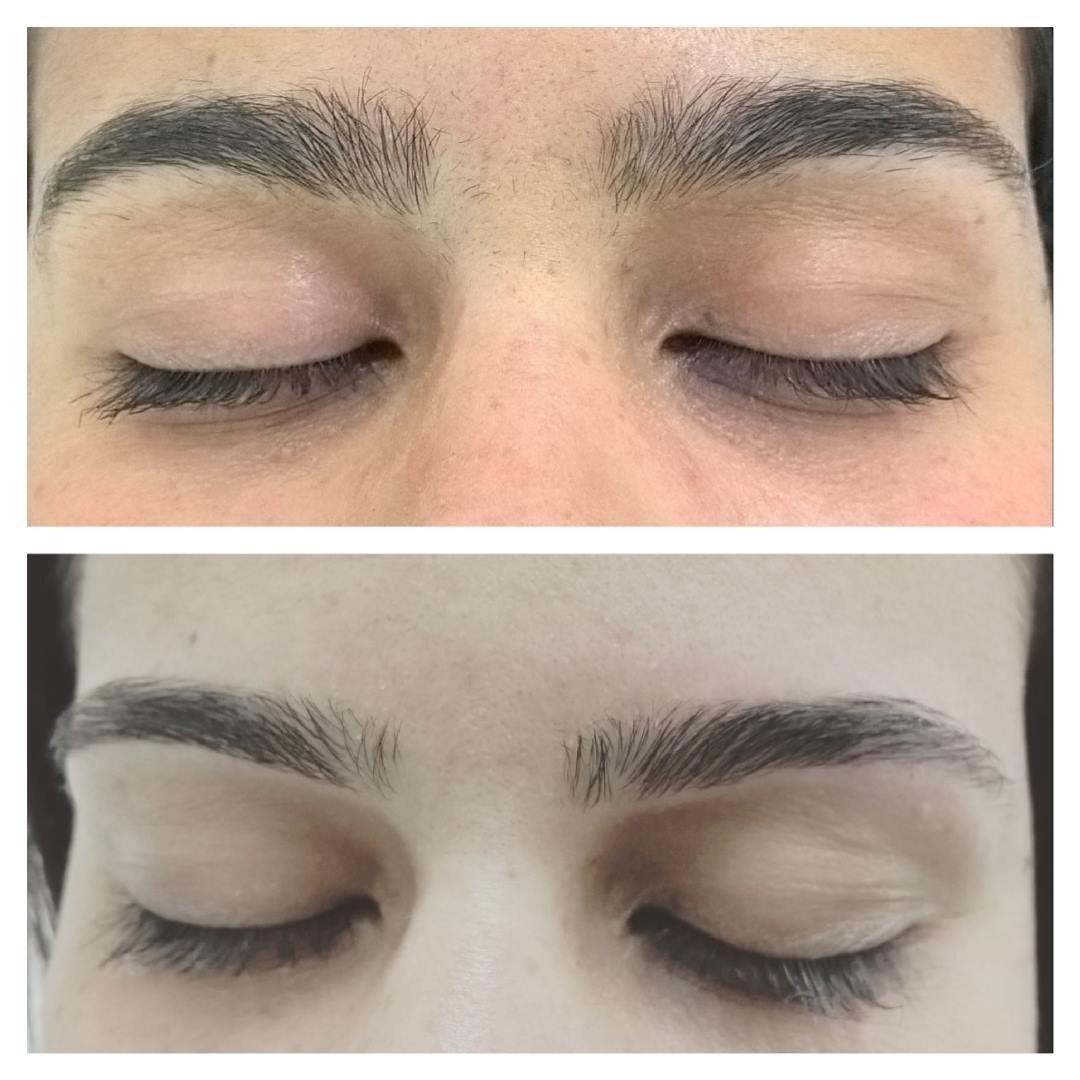 Design de sobrancelhas sem aplicação de henna! #clinicaescolabiodermo #esteticaderesultado #profissionaisqualificados #belezaesaude  estética