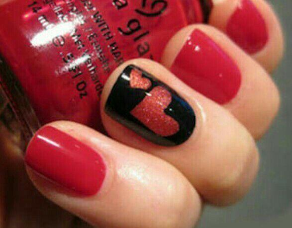 Inspiração para o dia dos namorados❤ unha manicure e pedicure