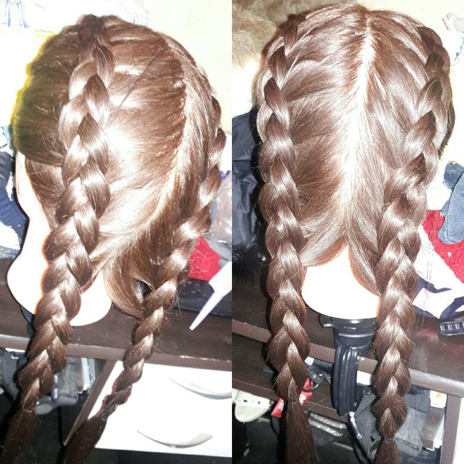 Trança Boxeadora na Cabeça de Boneca ! cabelo auxiliar cabeleireiro(a)