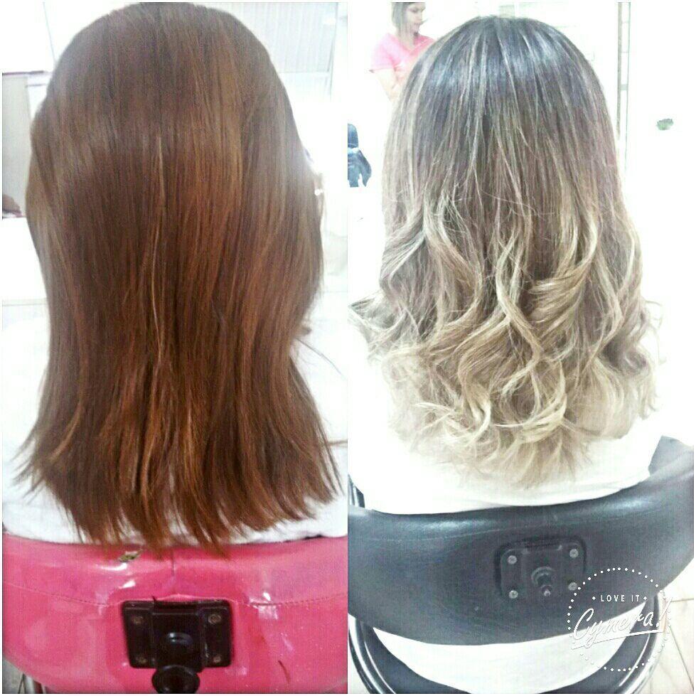 Ombre hair na touca cabelo