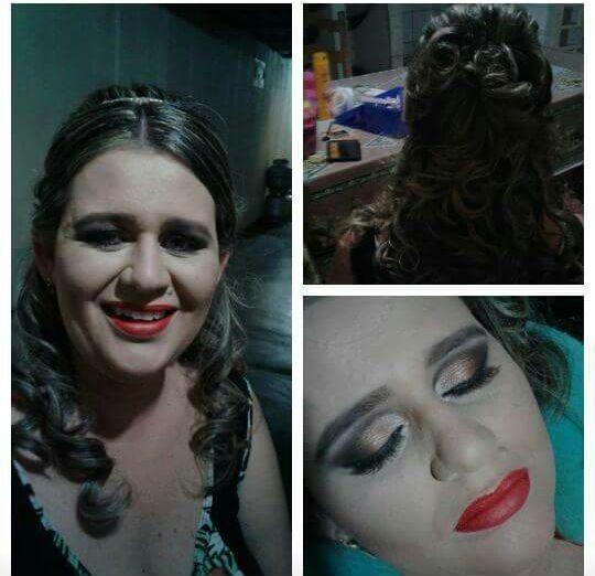 Linda jana festa de baile formatura mak e penteado maquiagem maquiador(a)
