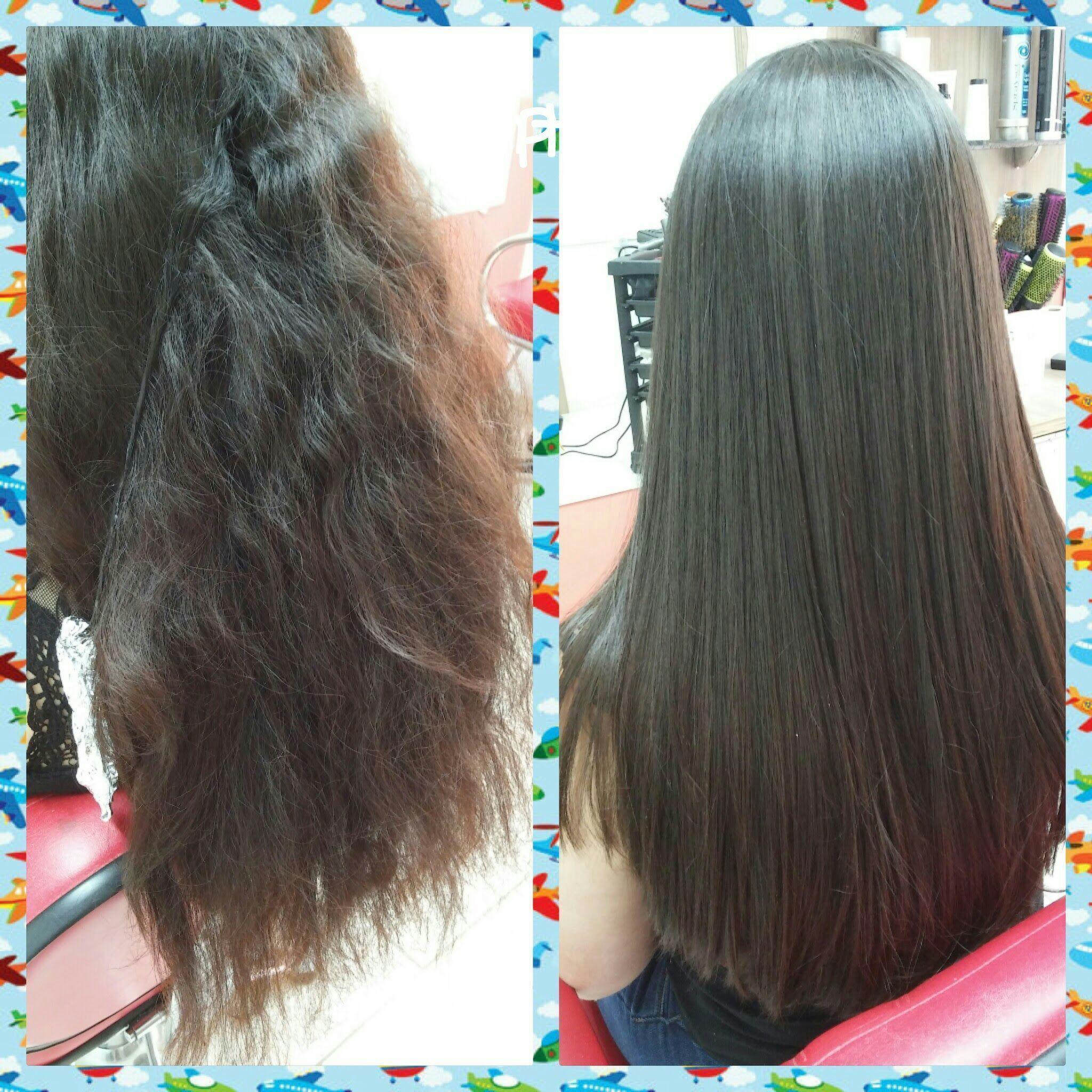 Antes e depois com definitiva cabelo cabeleireiro(a)