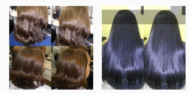 retoque de raíz e corte repicado na primeira foto/coloração,hidratação e corte na segunda foto. cabelo cabeleireiro(a) estudante (cabeleireiro) auxiliar cabeleireiro(a)