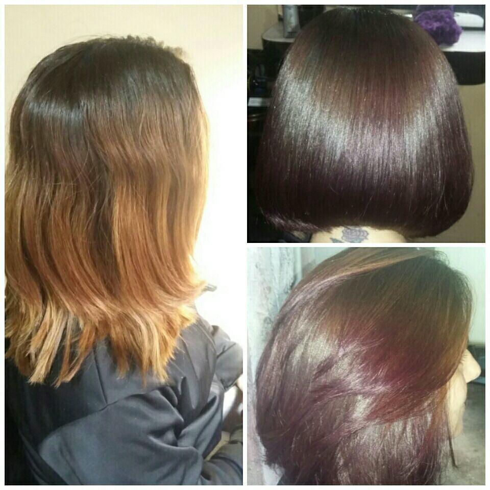 Lisoplastia, corte e coloração. cabelo cabeleireiro(a)