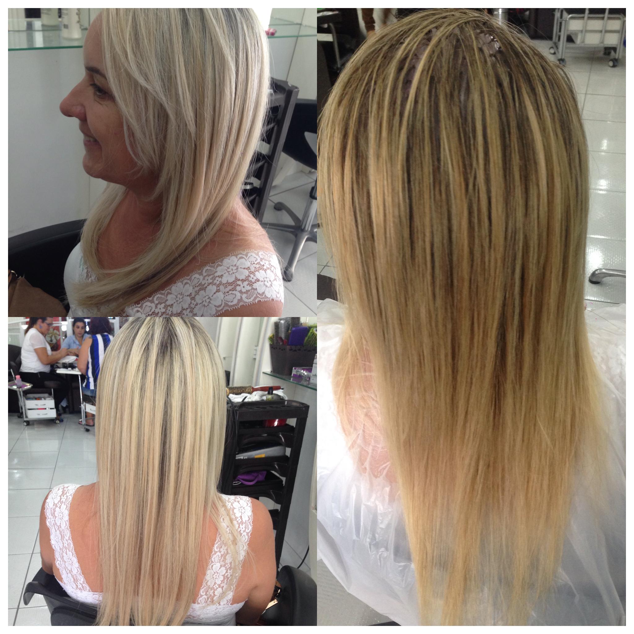 Cliente muito satisfeita com seu loiro perolado 😋 cabelo cabeleireiro(a)
