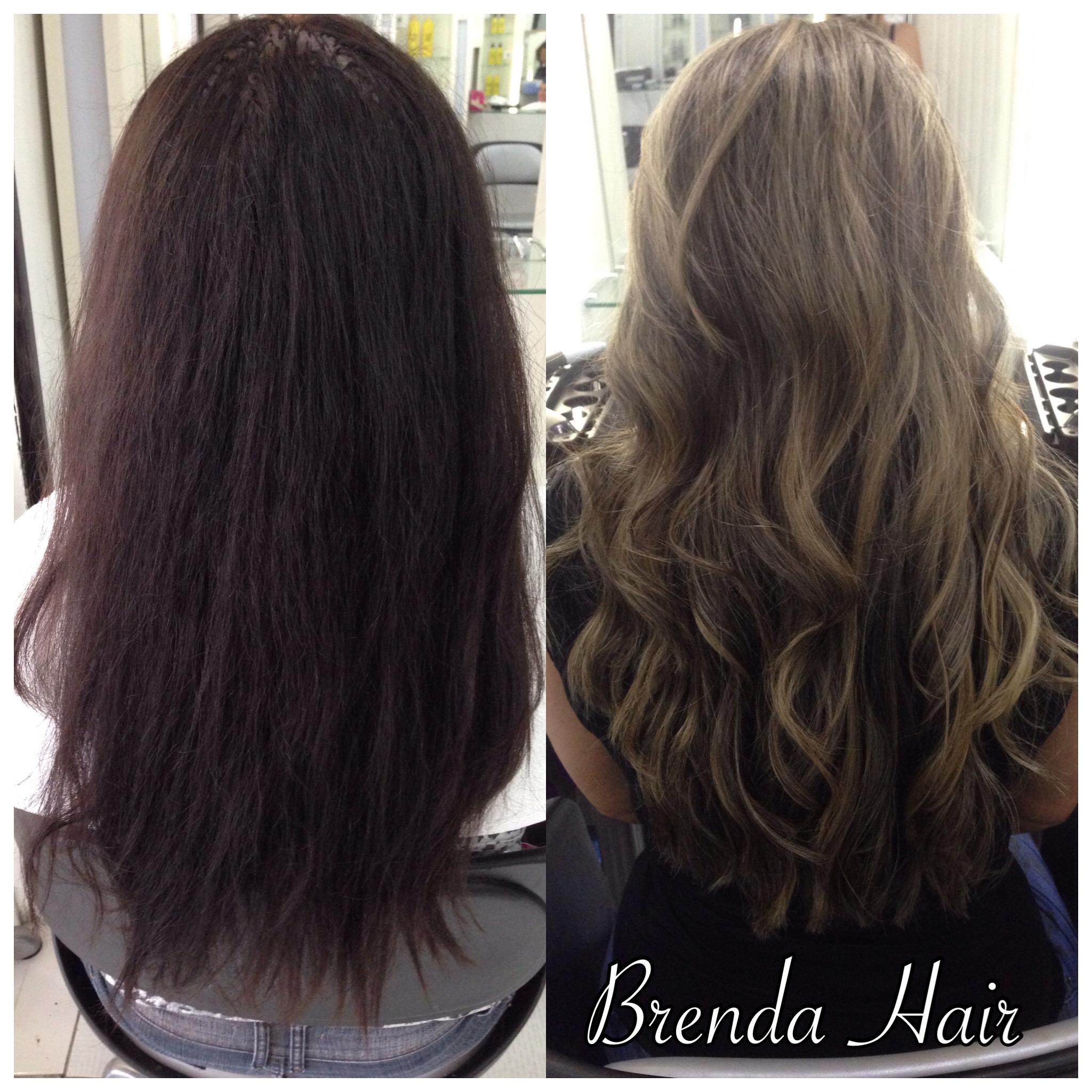 Saindo do preto, sempre respeitando a saúde do cabelo! Loiro super natural.. ❣ cabelo cabeleireiro(a)