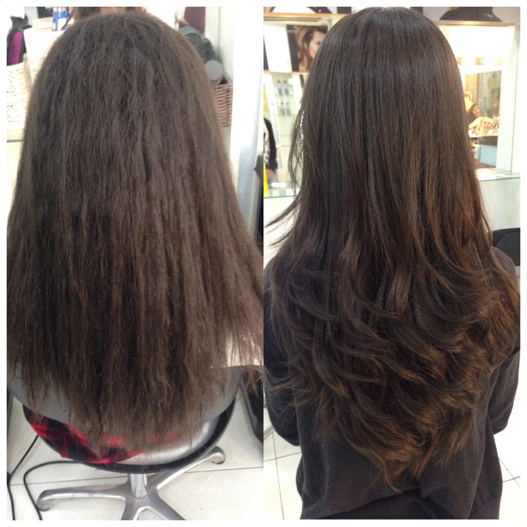 Escova progressiva + corte 😻😻 cabelo cabeleireiro(a)
