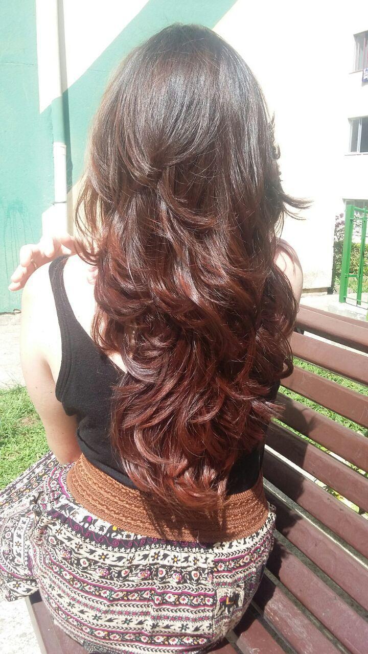 Corte em camadas para quem gosta de leveza e movimento 😘 cabelo cabeleireiro(a)