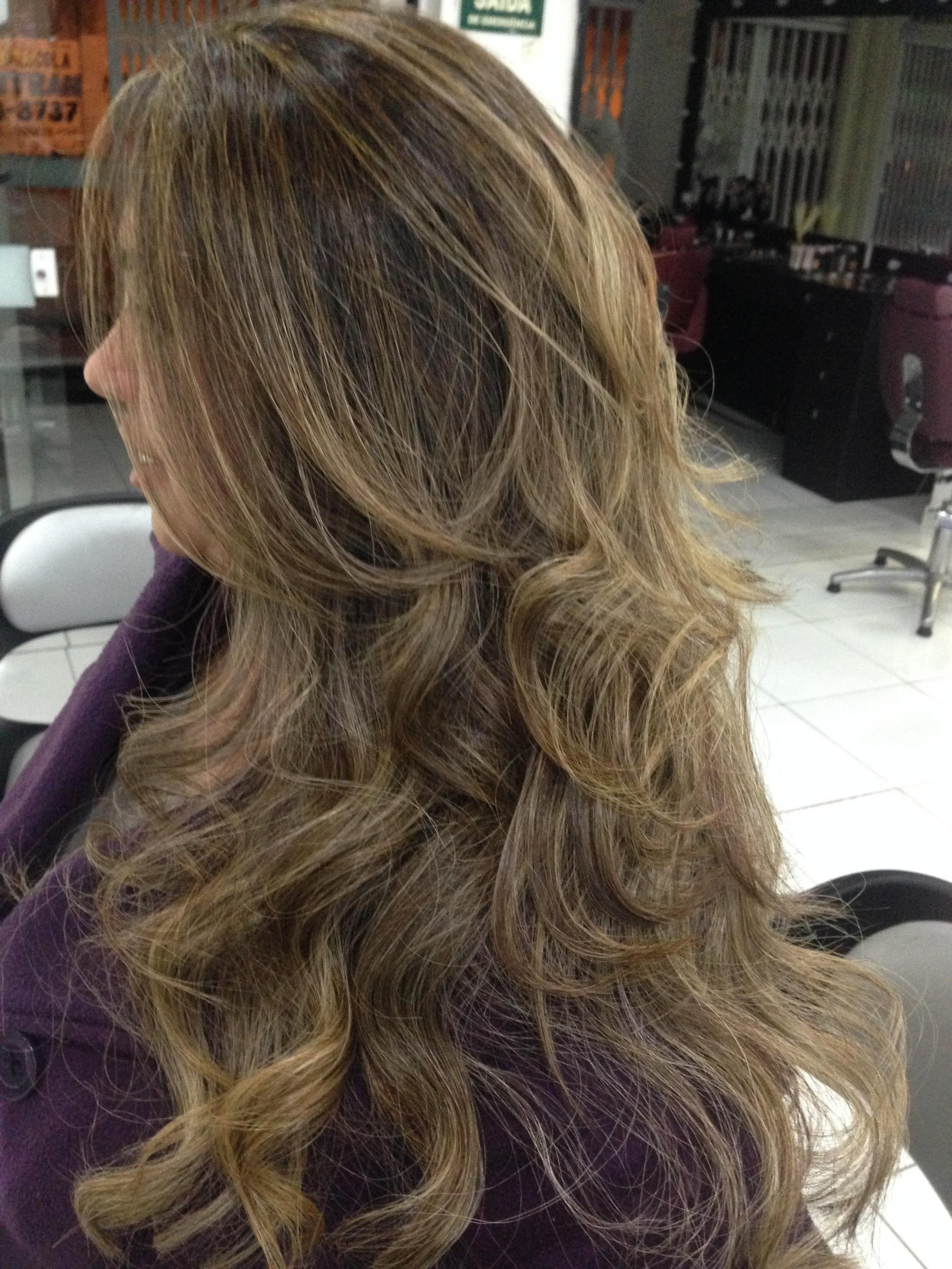 Mechas em tom de mel 🙂 cabelo cabeleireiro(a)