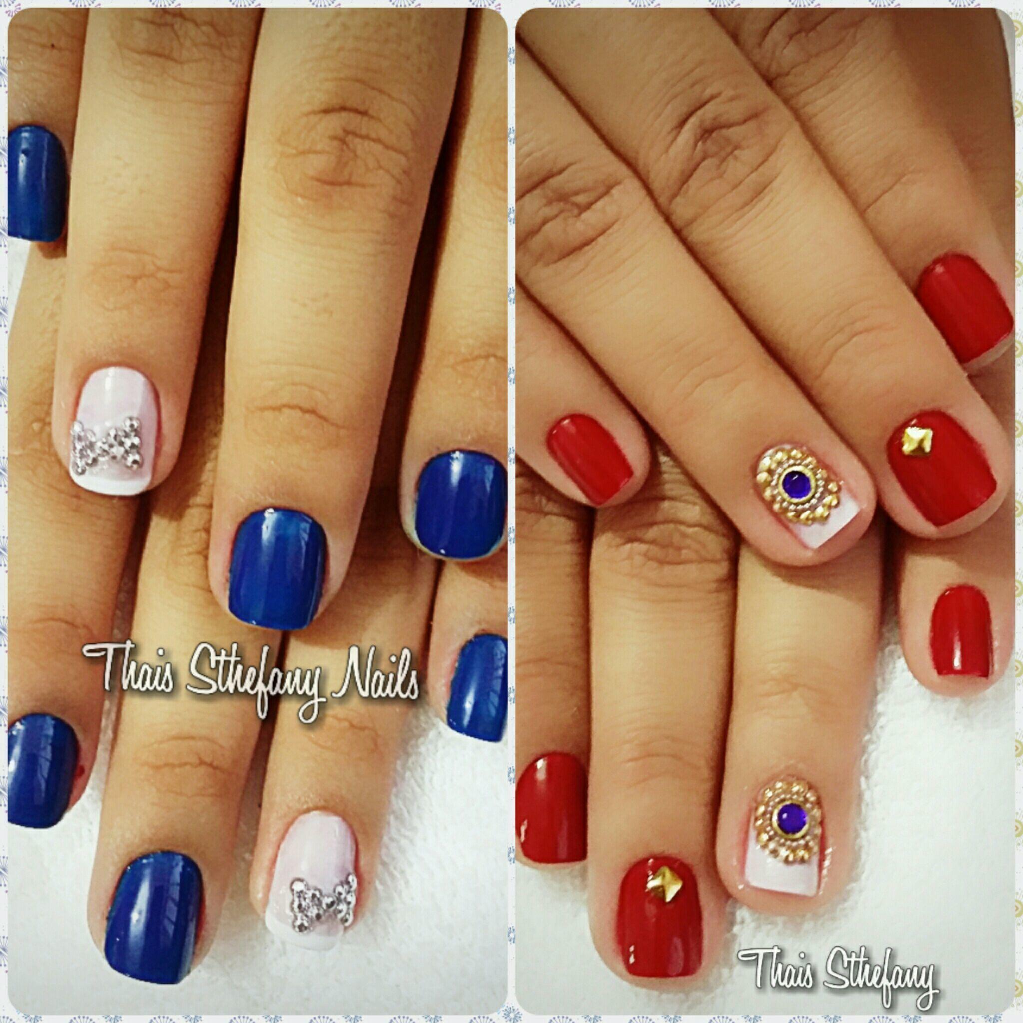 Esmalte : azul Hortência   Jóias 😻 unha manicure e pedicure
