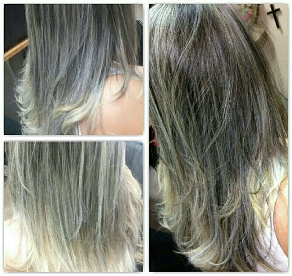 Ombré hair, desc. Wella 30 e 40 vol. cabelo cabeleireiro(a)