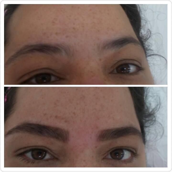 Modelagem, limpeza e aplicação de henna. estética designer de sobrancelhas