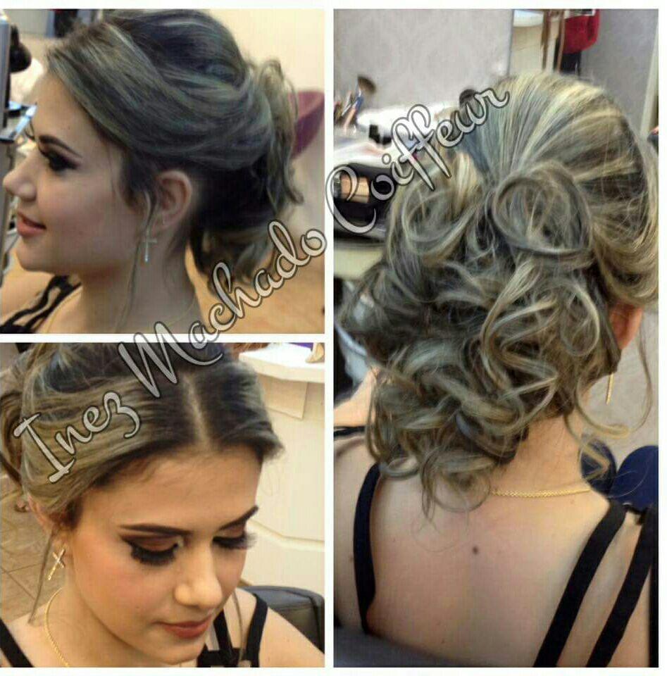 Penteado preso com fios despojados. Moderno. cabelo cabeleireiro(a) stylist / visagista